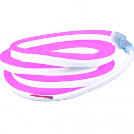 Néon flexible LED Pro 12V EPISTAR 2835 120 LED/m de 5 mètres Rose étanche (IP67)