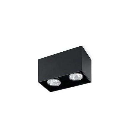 Sopt double sailli plafond noire GU10