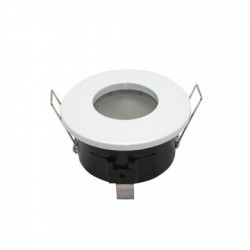 Support de spot Rond Etanche Blanc Ø82 x 59 mm IP65