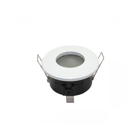Support de spot Rond Etanche Blanc Ø82 x 59 mm IP65